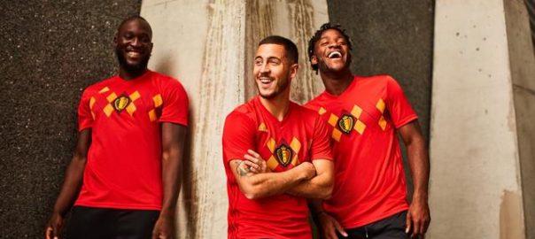 Belgias nasjonale lag 2018 World Cup hjemme sett utgitt