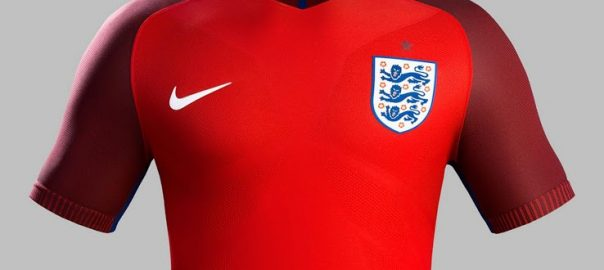 England borte fotball skjorte spion foto eksponering