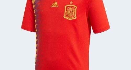 Spania Nasjonalt lag VM 2018 hjemmesett eksponering